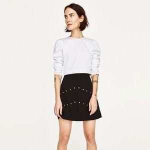 Zara Black Skirt with Gem Detail